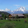 Luton's Teton Cabins: Stunning Teton Views - Operated by Jackson Hole natives, come stay 20 minutes from Jackson, Grand Teton & Yellowstone Nat'l Parks. Log cabins w/fully-equipped kitchens & breathtaking mountain views.